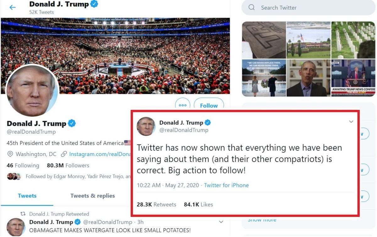 El presidente Trump busca mayor regulación de redes sociales.