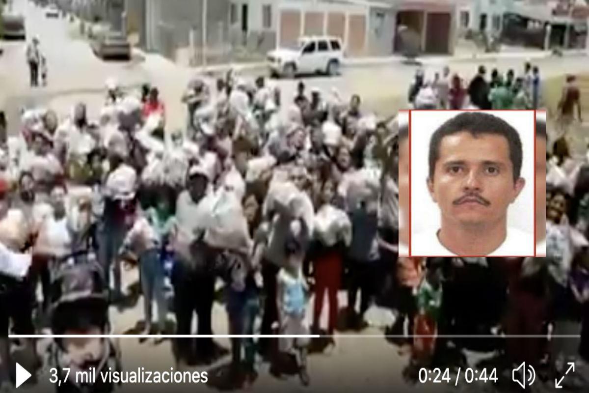 """VIDEO: """"Gracias señor Mencho"""", con drones el CJNG exhibe ayuda a afectados por coronavirus"""