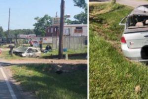 ¡Terrible! Un padre de Texas sin licencia de conducir se estrella contra un poste; sus dos hijos viajaban sin cinturón y ahora están peleando por sus vidas