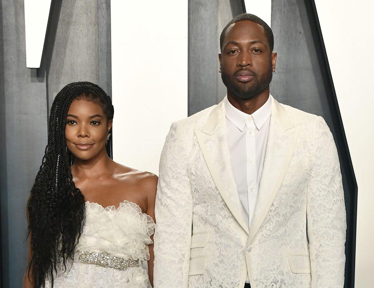 Dwyane Wade y su esposa Gabrielle Union.