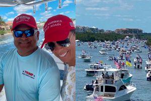 Un hispano organizó la caravana de botes de homenaje a Trump en Florida