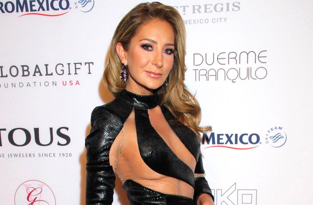 Geraldine Bazán presume cuerpazo con diminuto bikini color uva
