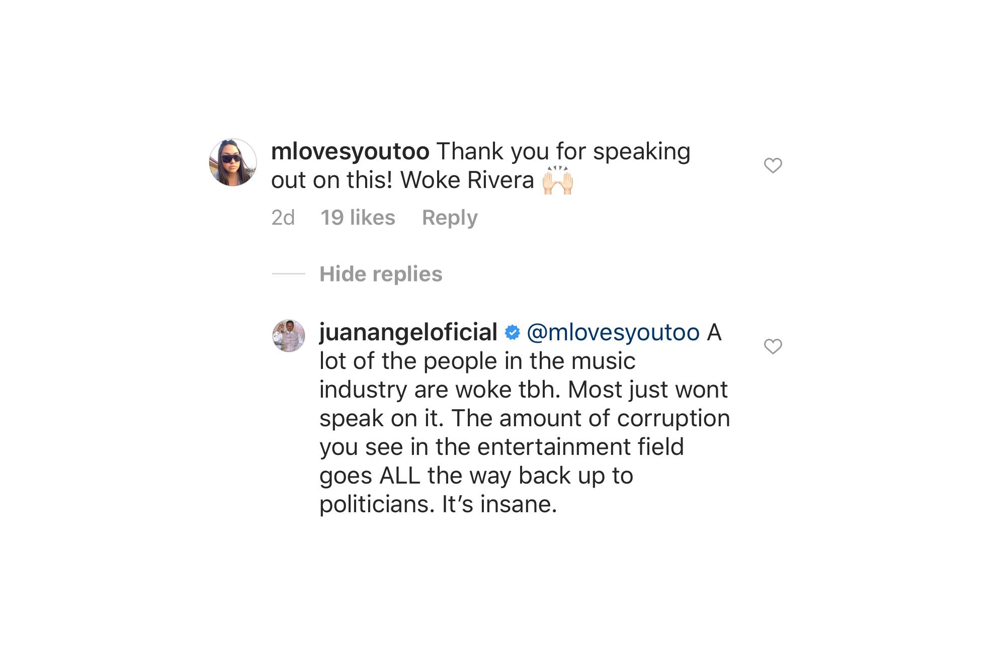 Johnny López simpatiza con Trump en Instagram.