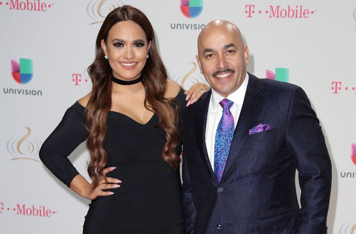Mayeli Alonso y Lupillo Rivera en el 2017.