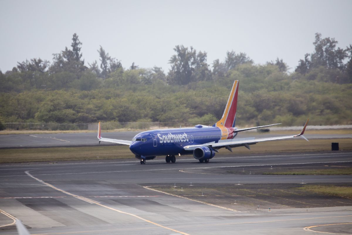 Imagen de un avión de Southwest Airlines.