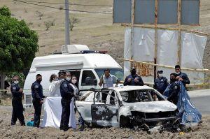 Queman vivos a dos presuntos ladrones en Puebla