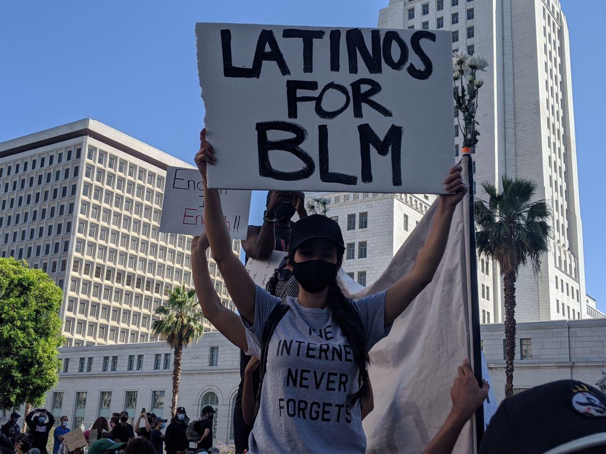 La comunidad latina respalda la lucha del movimiento Black Lives Matters en Los Ángeles.