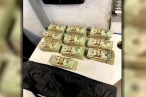 Le decomisan $100,000 dólares que escondía en el automóvil rumbo a México