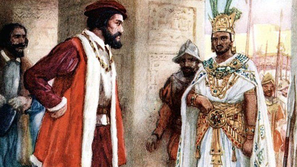 La diplomacia entre Hernán Cortés y el rey Moctezuma II solo duró unos días.