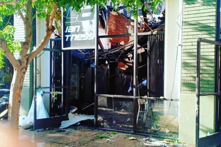 10th Planet Fitness de Long Beach fue quemado y quedó destrozado en un 100%. (Suministrada)