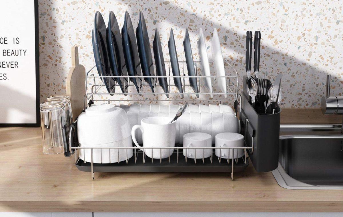 4 bases para escurrir platos perfectos para cocinas con poco espacio