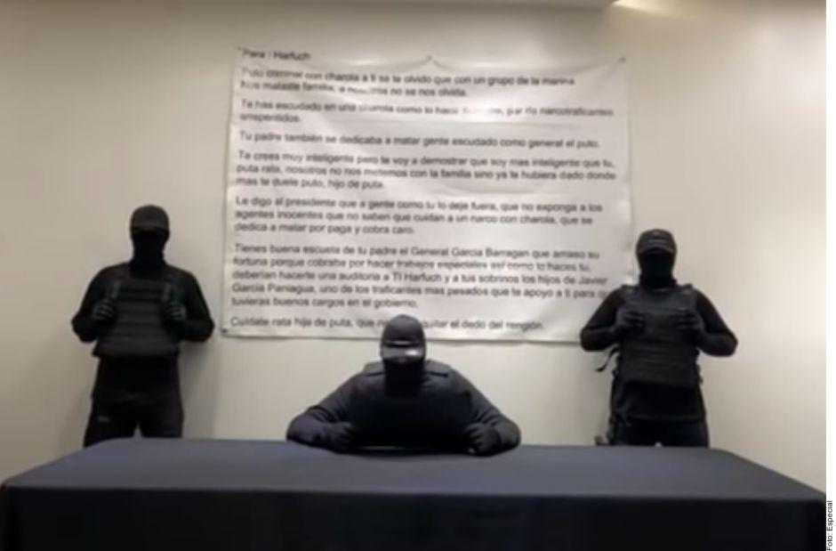 Encapuchados lanzan nueva amenaza contra García Harfuch, jefe de la policía de la CDMX