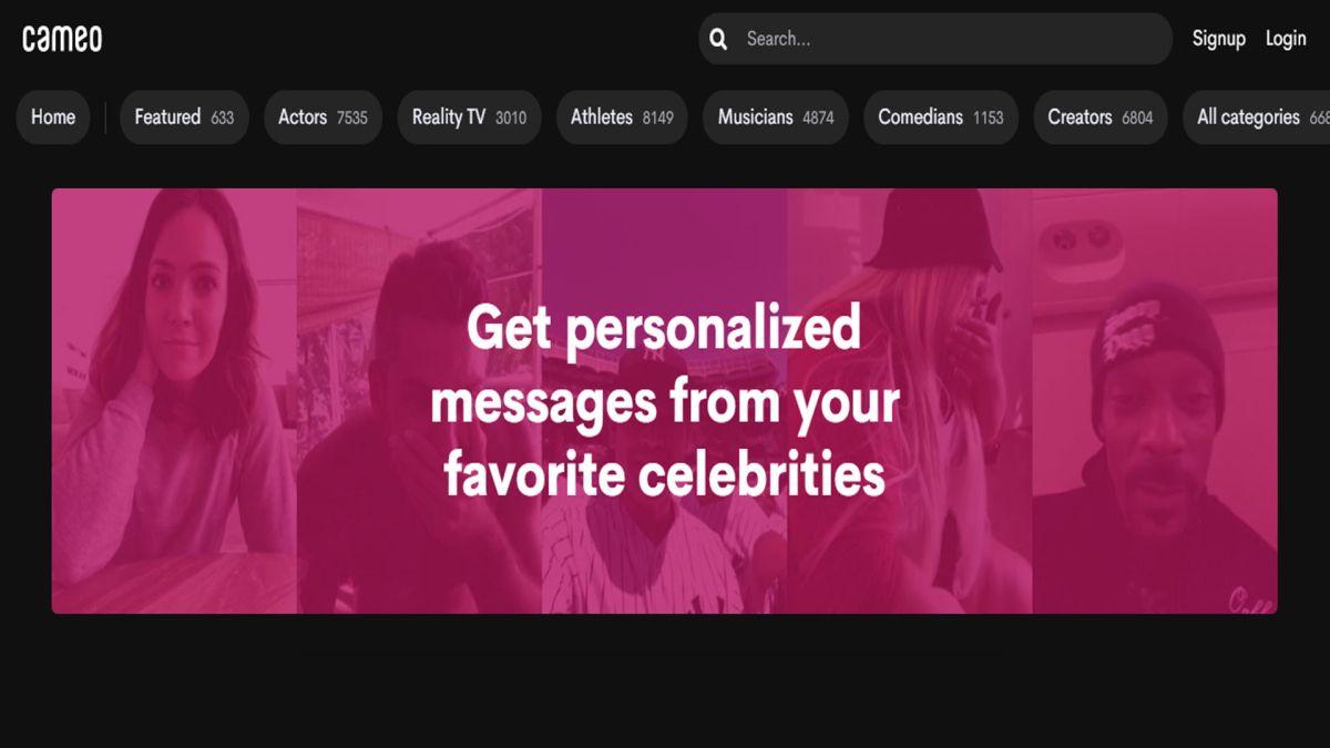 Cameo ahora permite conectar videollamadas a través de Zoom con varios famosos.