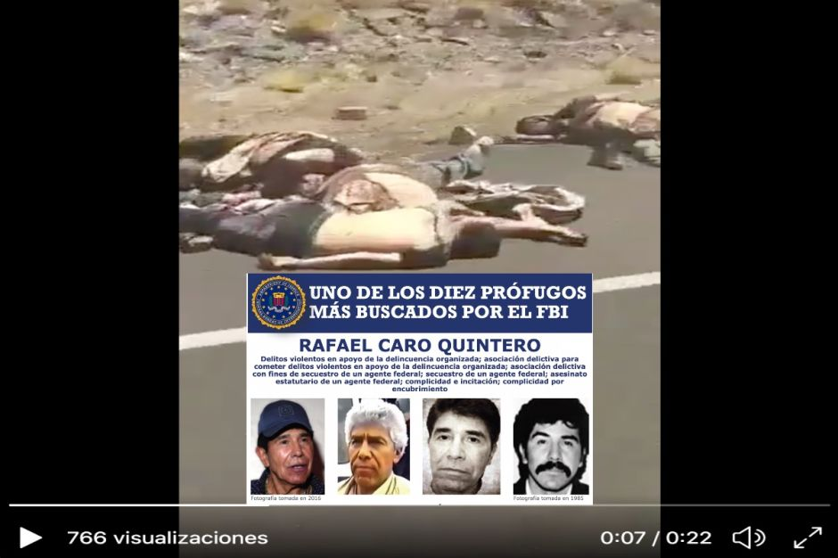 VIDEO: Caro Quintero tras la matanza de 10 a unas millas de frontera con EE.UU.