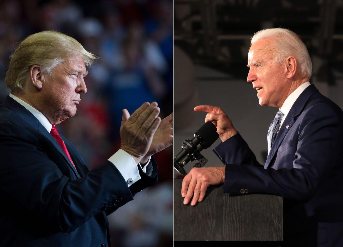 El presidente Donald Trump y el exvicepresidente Joe Biden.
