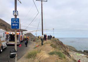 Bomberos reportaron la muerte de tres hombres que fueron arrastrados al mar en el condado de Ventura