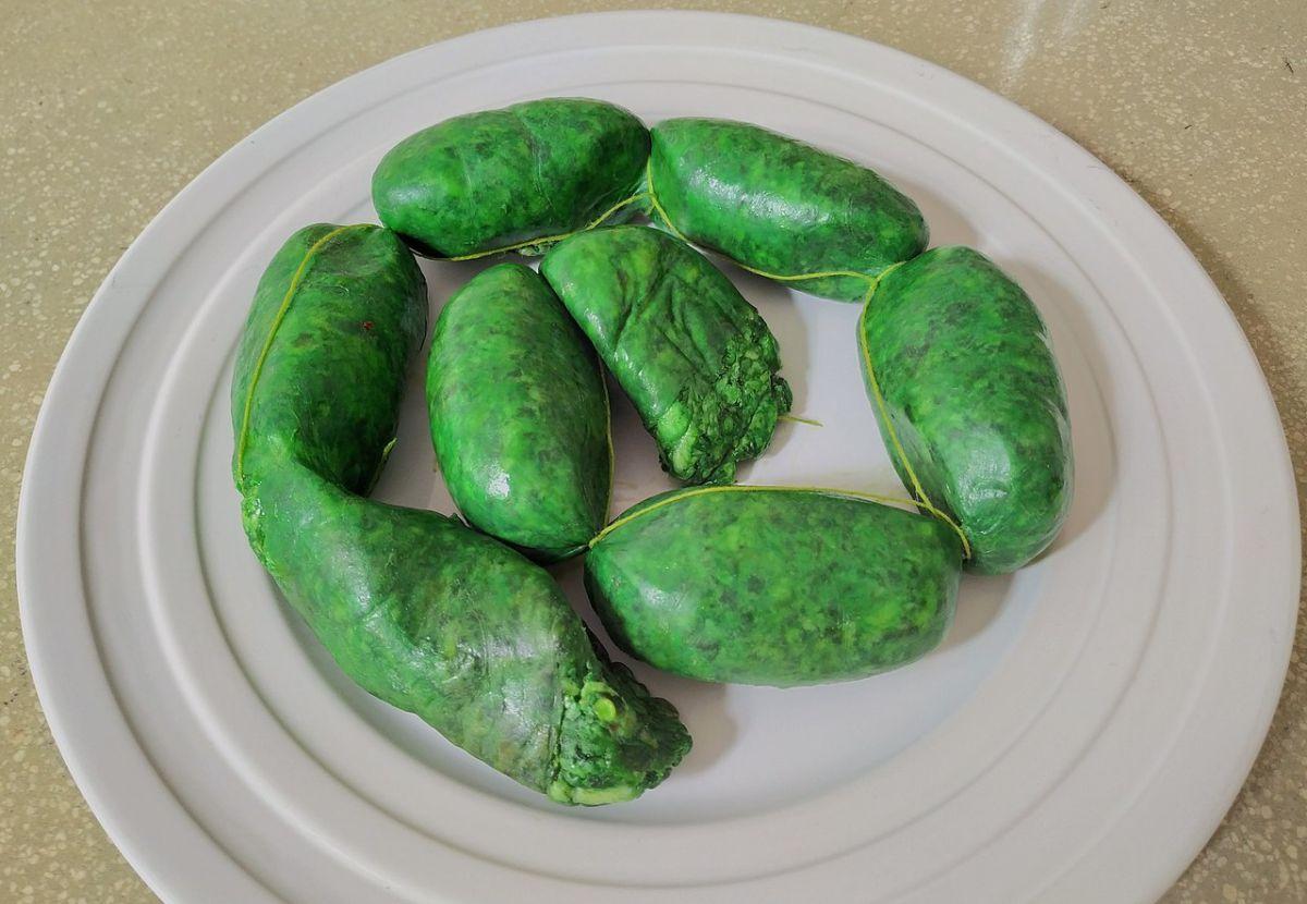 ¿Cómo toma ese color el chorizo verde de Toluca?