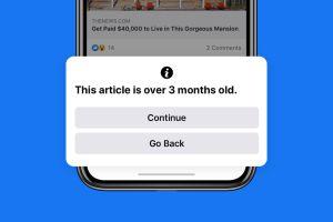 Facebook avisará cuando vayas a compartir una noticia vieja