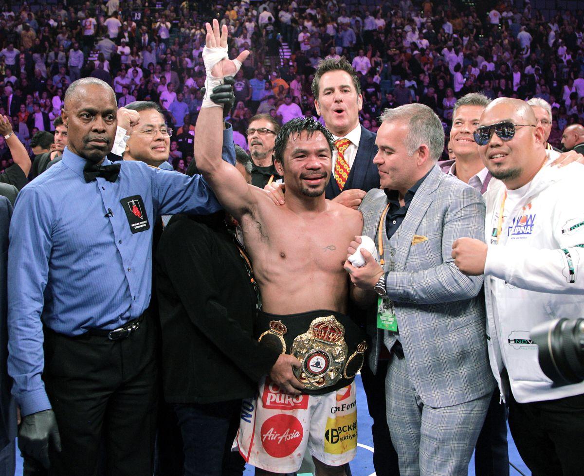 Pacquiao reaparecería sobre el ring a finales del 2020.