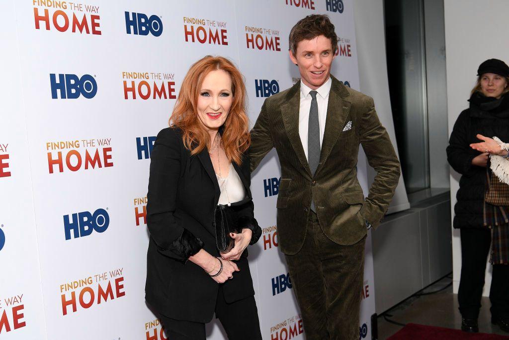 Eddie Redmayne y J.K. Rowling