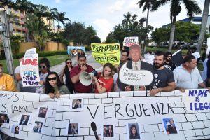 Máxima tensión en Miami por una protesta frente al hotel de Trump donde se iba realizar una reunión del G7