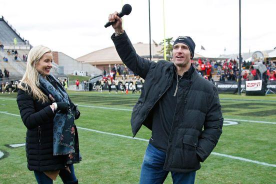 Drew Brees y su esposa Brittany Brees.