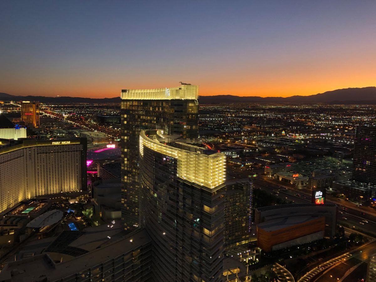 Las Vegas desde el hotel The Cosmopolitan.