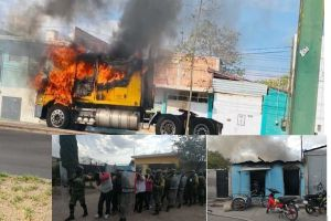 Fotos: Mamá del Marro entre los 26 detenidos tras bloqueos con autos y negocios incendiados