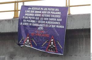 """""""El Marro"""" deja narcomensajes de advertencia al CJNG de """"El Mencho"""" en Guanajuato"""