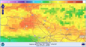 El sur de California arde con las altas temperaturas de este miércoles