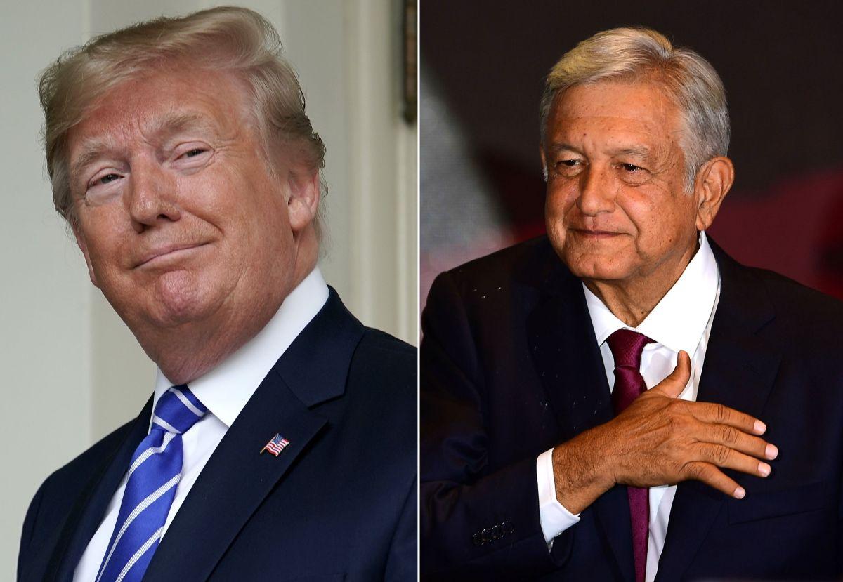 """Donald Trump señala que AMLO es su amigo,  """"un gran caballero"""", """"que ama a su país y también a Estados Unidos""""."""