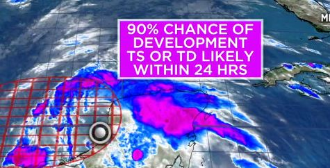 Texas con un ojo en el Golfo de México: Lo que ha quedado de Amanda se convierte en una amenaza de huracán