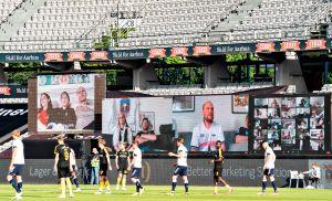 Equipo de fútbol lleva a sus aficionados al estadio a través de Zoom