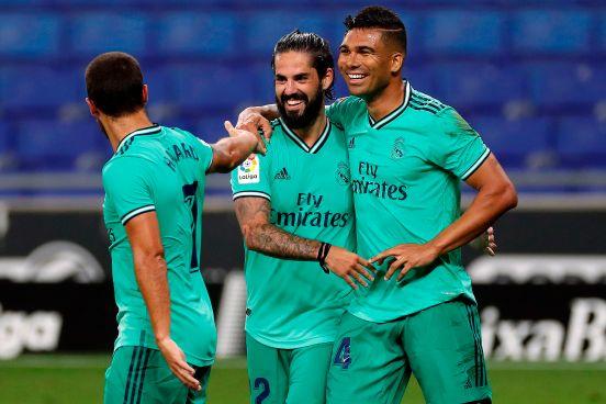 Casemiro anotó el gol del triunfo merengue.