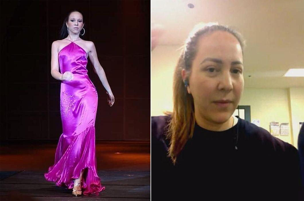 Paola Ivana Seco, antes en pasarela y ahora, detenida en Texas