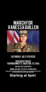 En pleno 4 de Julio, realizarán gran marcha en Houston, Texas, por soldado Vanessa Guillén