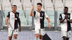 Imparable: Cristiano Ronaldo marcó un doblete y está cerca de ganar su primer título de goleo individual en Italia