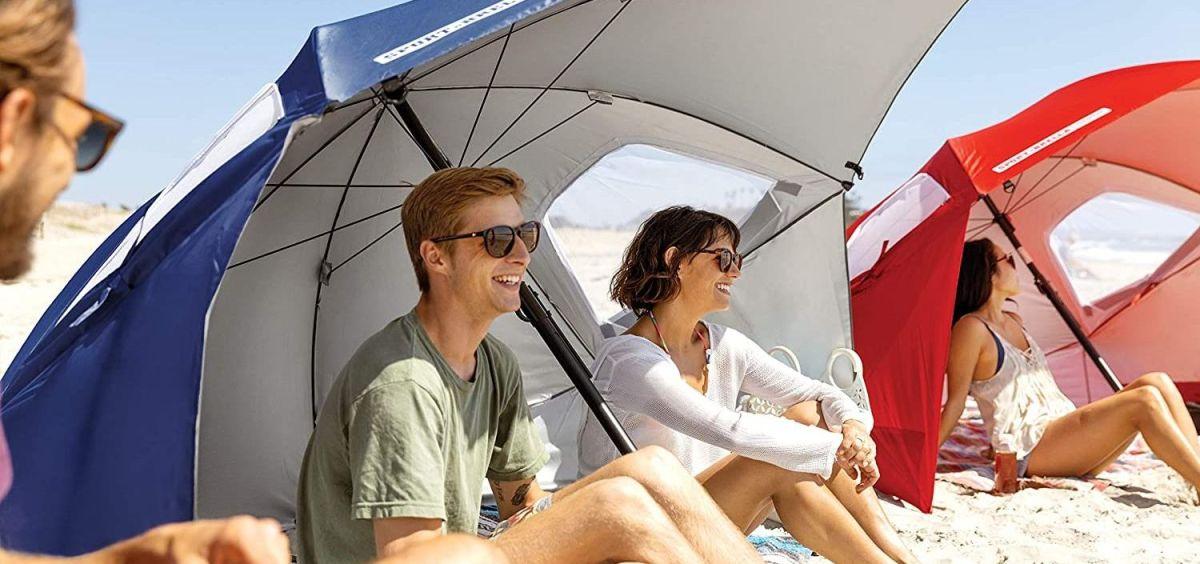 Las mejores casetas y sombrillas de playa para protegerte del sol y mantener el distanciamiento social