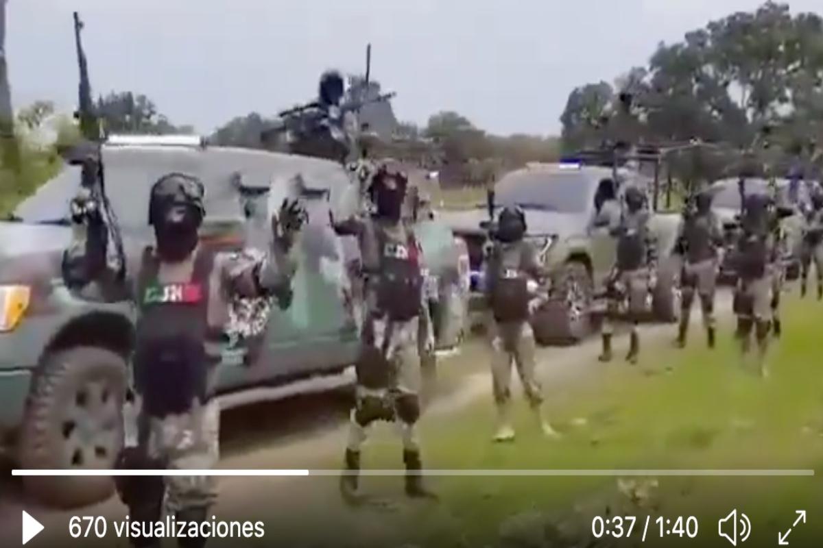 VIDEO: CJNG usa drones y cargados con explosivos C4 para atacar a rivales.