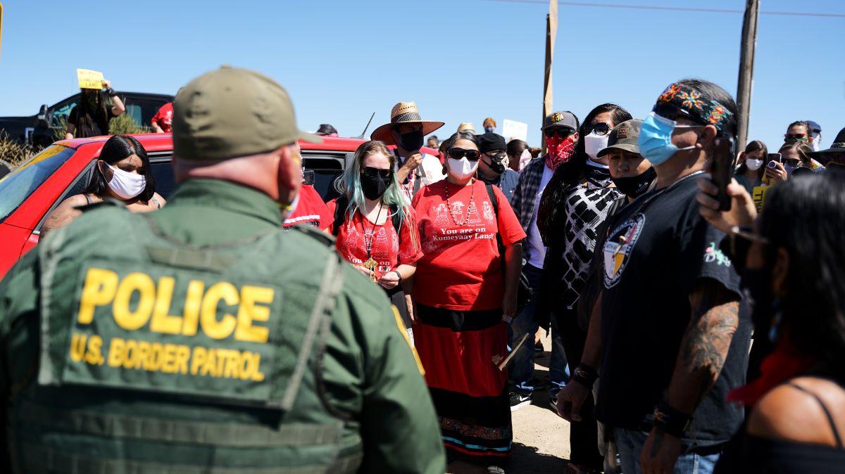 Protesta contra obras del muro de Trump. (Manuel Ocaño)