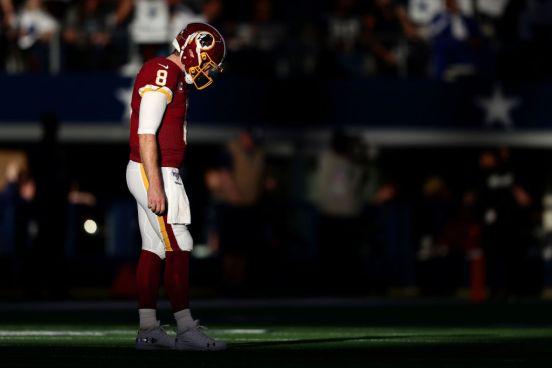 Case Keenum de los Washington Redskins.