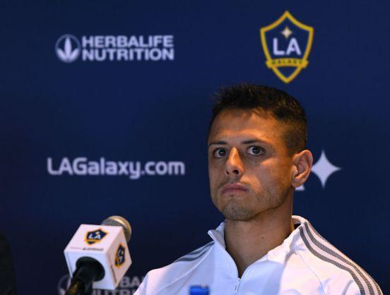 Javier 'Chicharito' Hernández en conferencia de prensa.