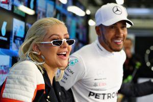Lewis Hamilton revela que lleva años haciendo música y colaboró en una canción con Christina Aguilera