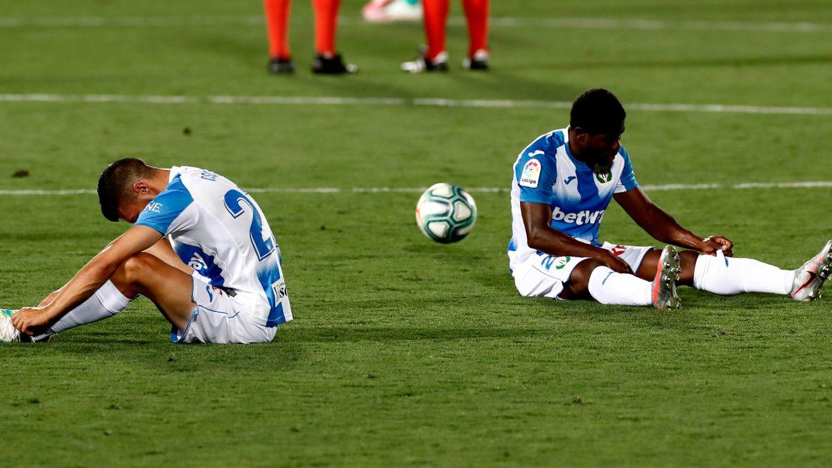 Leganés desciende, a pesar de sacar el empate al Real Madrid