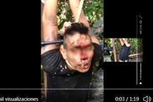 VIDEO: Narcos matan a golpes a supuesto ladrón en México