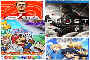 Reseña Paper Mario: The Origami King, Ghost of Tsushima, F1 2020 y Sword Art Online Alicization Lycoris