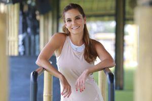 Con tres meses y medio de embarazo, Tania Rincón sigue con exigentes entrenamientos