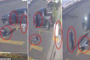 VIDEO: Escolta se defiende y mata a ladrón que intentaba robar camioneta
