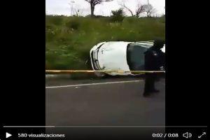 VIDEO: Sicarios del CJNG tratan de escapar de Guardia Nacional y se accidentan