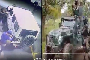 VIDEO: Denuncian que Jeep robada fue modificada por el CJNG y ahora es parte de su ejército